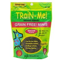 Crazy Dog Bacon Flavor Train-Me Minis Training Reward Dog Treats