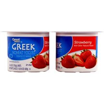 Great Value Strawberry Nonfat Greek Yogurt, 6 oz, 4 ct