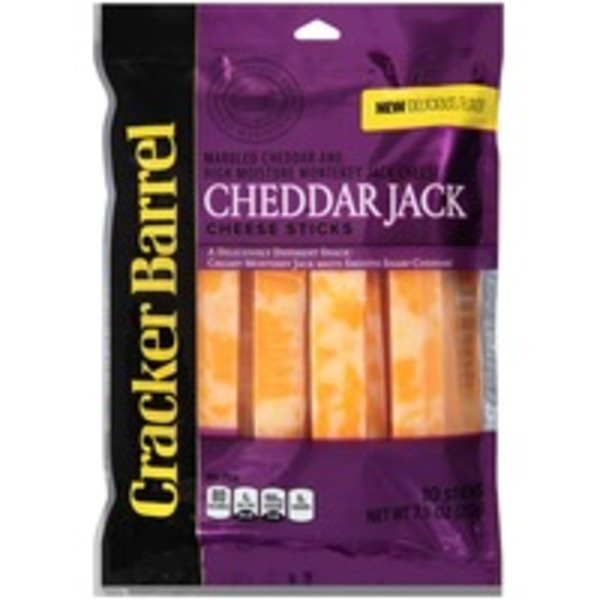 Cracker Barrel Cheddar Jack Sticks Cheese