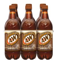 A&W Root Beer, 0.5 L, 6 pack
