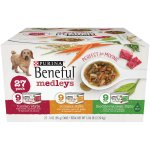 Purina Beneful Medleys Variety Dog Food Pack of 27, 3 oz. Cans