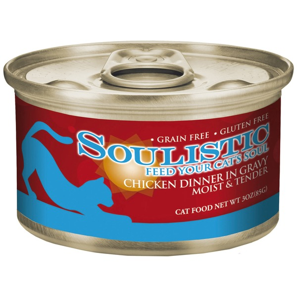 Soulistic Moist & Tender Chicken Dinner Adult Canned Cat Food In Gravy