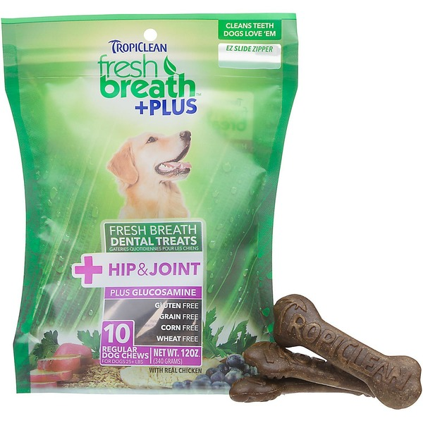 Tropiclean Fresh Breath Plus Hip & Joint Dental Dog Chews