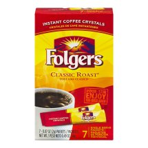 Folgers Instant Coffee Crystals Single Serve Packets Classic Roast - 7 CT