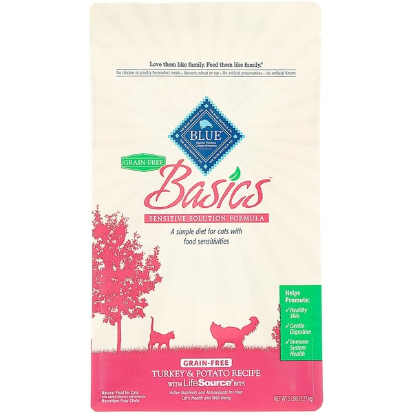 Blue Buffalo Basics Sensitive Solution Formula Turkey & Potato Cat Food