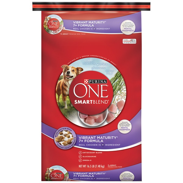 Purina One Dog Dry SmartBlend Vibrant Maturity 7+ Formula Adult Dog Food