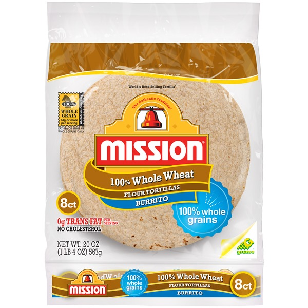 Mission 100% Whole Wheat Burrito Flour Tortillas