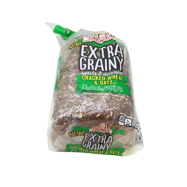 Oroweat Extra Grainy Cracked Wheat & Oats Bread