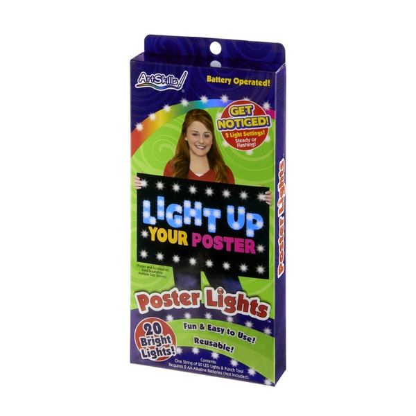 ArtSkills Battery Operated Poster Lights - 20 CT