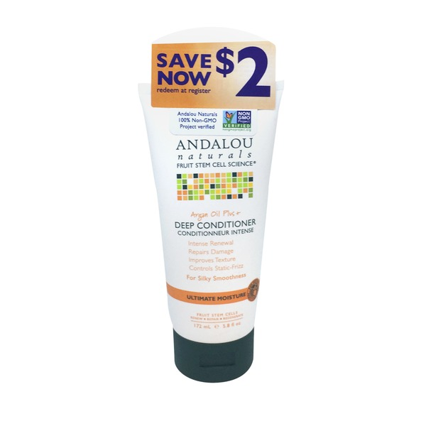 Andalou Naturals Fruit Stem Cell Science Arian Oil Plus & Leave-In Conditioner