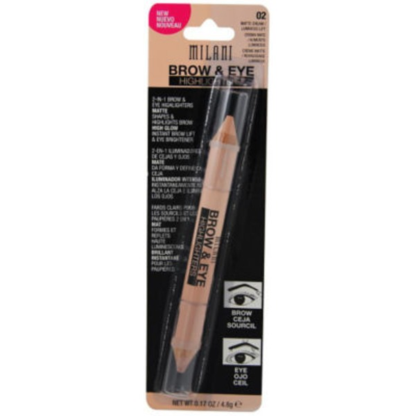 Milani Brow & Eye Highlighters - Matte Cream/Luminous Lift
