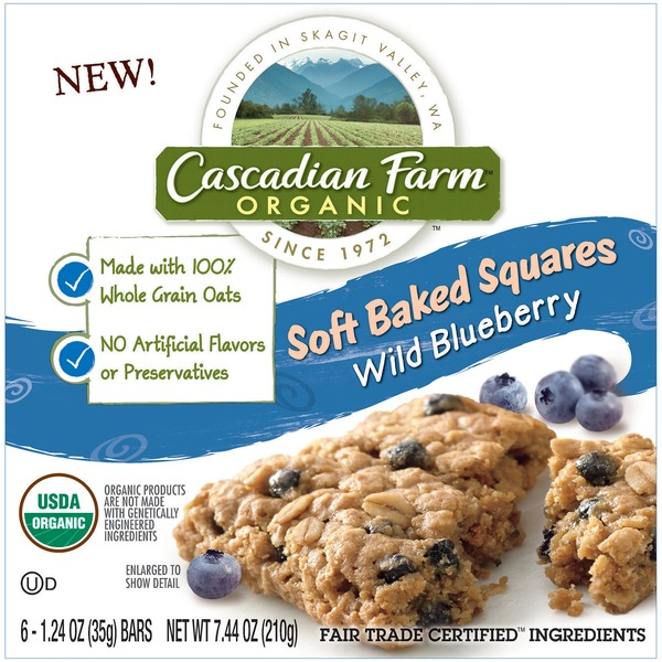 Cascadian Farm Organic Wild Blueberry Soft Baked Squares