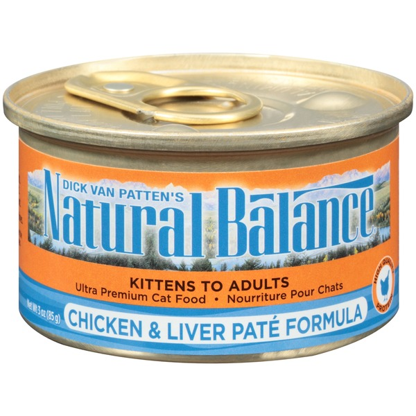 Natural Balance Chicken & Liver Pate Formula Cat Food