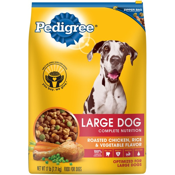 Pedigree Large Dog Complete Nutrition Roasted Chicken, Rice & Vegetable Flavor Dog Food