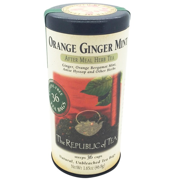The Republic of Tea Orange Ginger Mint Herbal Tea Bags