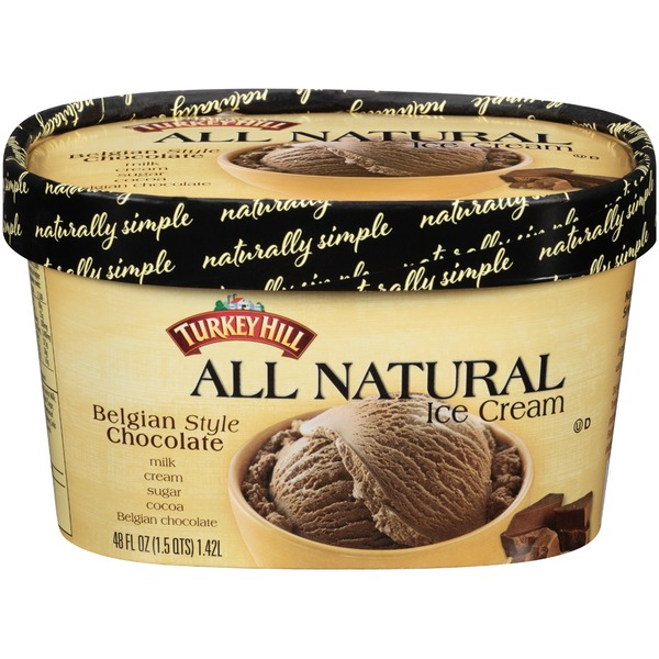 Turkey Hill All Natural Belgian Style Chocolate Ice Cream