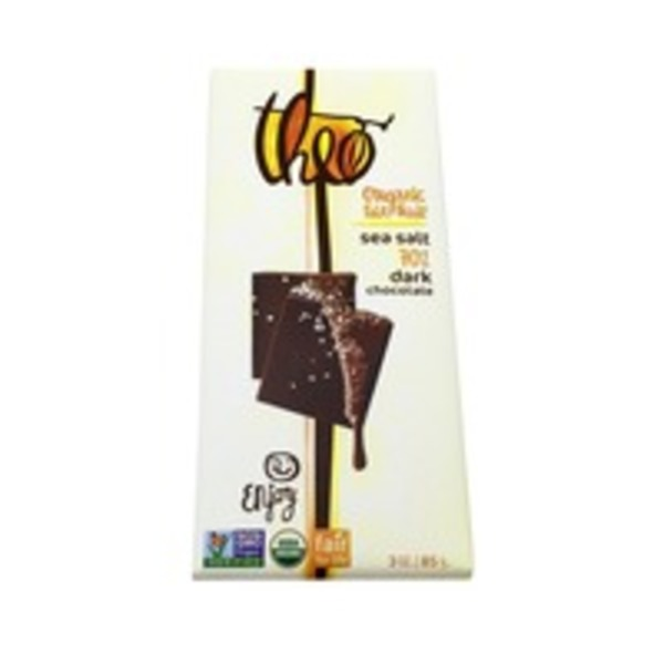 Theo Organic Fair Trade 70% Dark Chocolate with Sea Salt