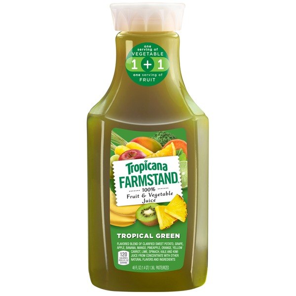Tropicana Farmstand Tropical Green Fruit & Vegetable 100% Juice
