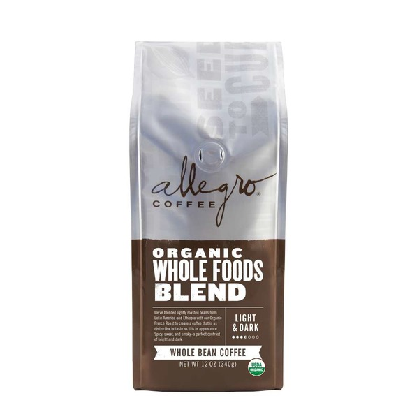 Allegro Organic Whole Foods Blend Whole Bean Coffee