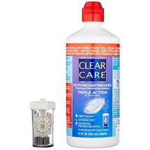 Clear Care Cleaning & Disinfecting Solution Triple Action Cleaning, 12.0 Fl Oz