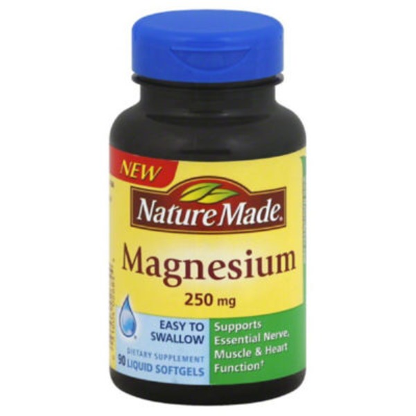 Nature Made Magnesium 250mg Dietary Supplement Liquid Softgels - 90 CT