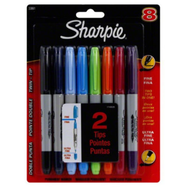 Sharpie Assorted Colors Twin Tip Permanent Markers