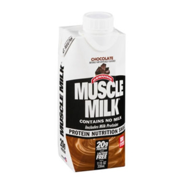 Muscle Milk Protein Nutrition Shake Chocolate