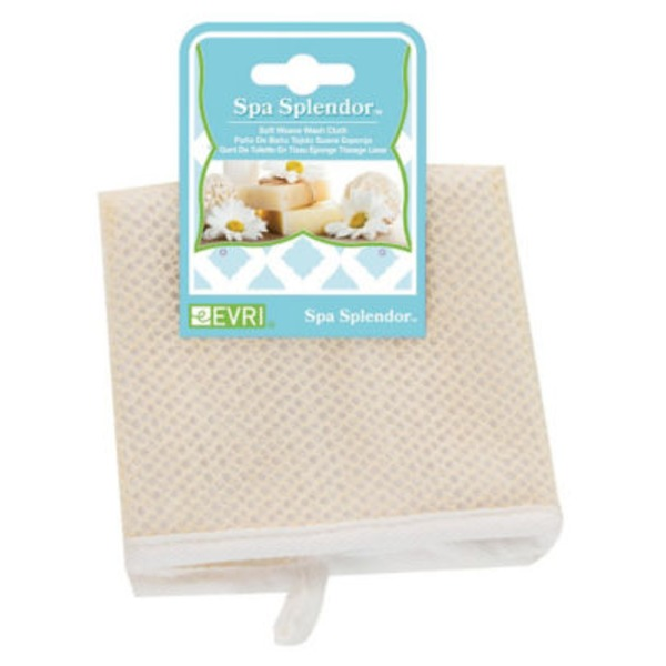 Evriholder Spa Splendor Soft Weave Washcloth