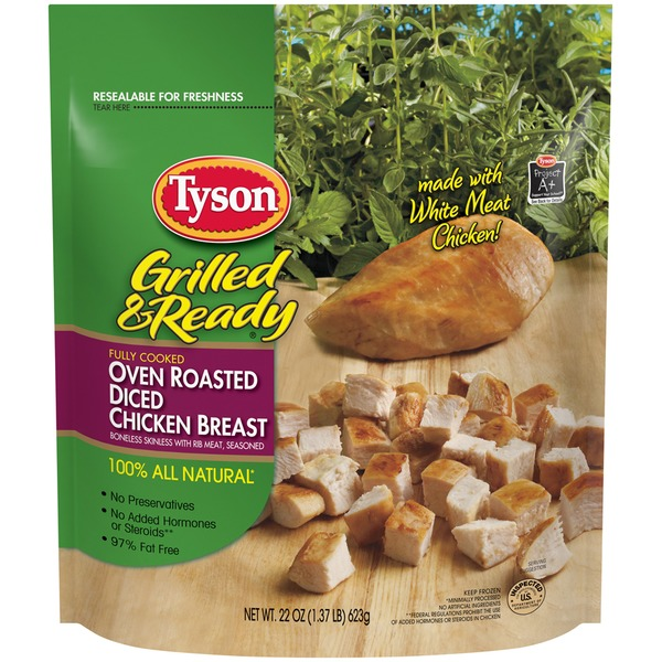Tyson Grilled And Ready Diced Oven Roasted Breast Chicken