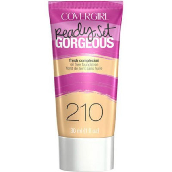 CoverGirl Ready Set Gorgeous COVERGIRL Ready, Set Gorgeous Foundation, Medium Beige  1 fl oz (30 ml) Female Cosmetics