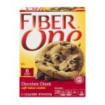 Fiber One Cookies, Soft Baked Chocolate Chunk Cookies, 6 Pouches, 6.6 oz, 1.1 OZ