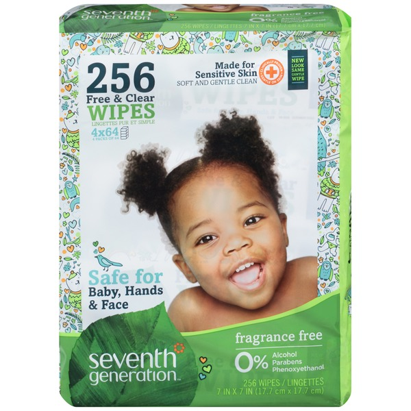 Seventh Generation Free & Clear Fragrance Free Baby Wipes