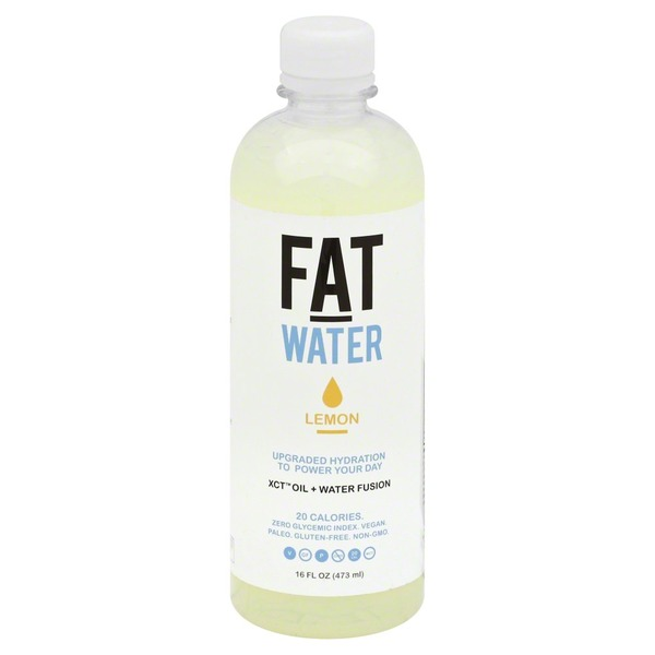 Fatwater XCT Oil + Water Fusion, Lemon, Bottle