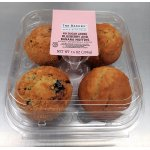 The Bakery Blueberry and Banana Muffins, No Sugar Added, 14 oz, 4 Count