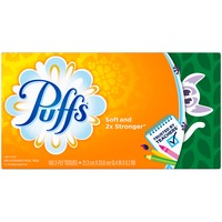 Puffs Basic Puffs Basic Facial Tissues, 1 Family Box, 180 Tissues per Box Personal Tissue