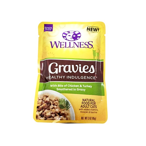 Wellness Grain Free Gravies Healthy Indulgence Natural food for Adult Cats