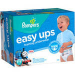 Pampers Easy Ups Boys Training Pants Size 3T-4T
