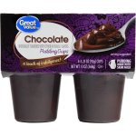 Great Value Pudding Cups, Chocolate, 13 oz, 4 Count
