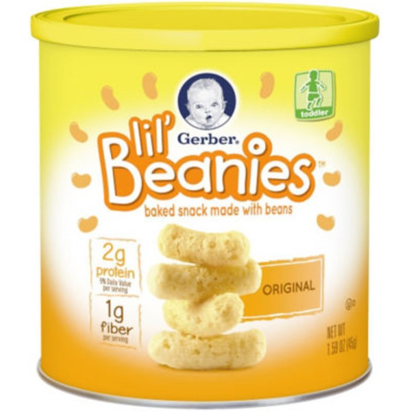 Gerber Lil Beanies Original Baked Snack Made with Beans