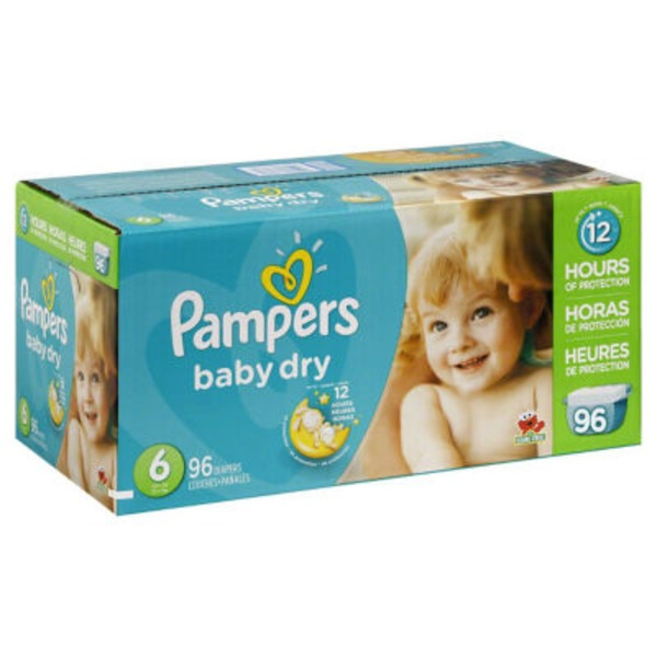Pampers Baby Dry Pampers Baby Dry Diapers Size 6 96 Count Diapers