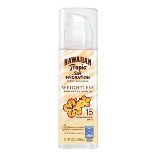 Hawaiian Tropic Silk Hydration Weightless SPF 15 Sunscreen Lotion