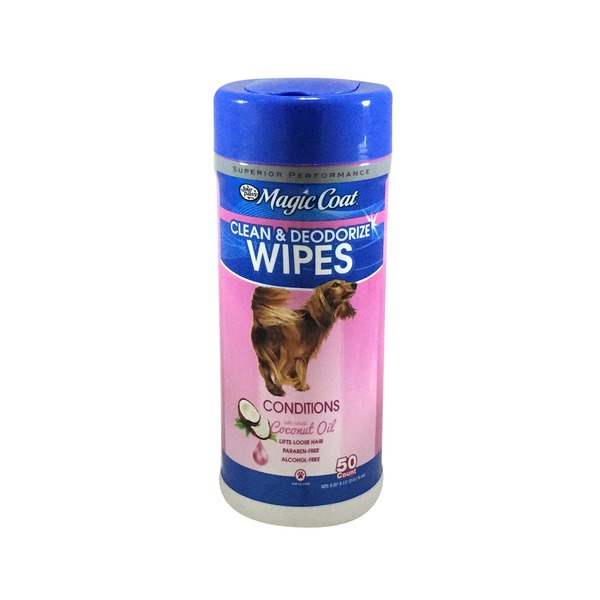 Magic Coat Essential Coconut Clean & Deodorize Wipes