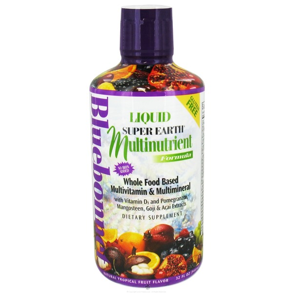 Bluebonnet Super Earth Tropical Flavor Multinutrient Liquid