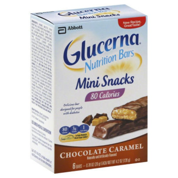 Glucerna Chocolate Caramel Mini Snacks Nutrition Bars
