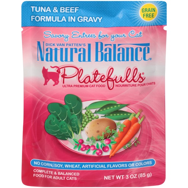 Natural Balance Dick Van Patten's Platefulls Tuna & Beef in Gravy Cat Food