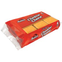 Austin Cheese Crackers with Cheddar Cheese, 0.93 oz, 6 pack