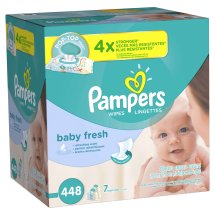 Pampers Baby Fresh Wipes, Scented, 7 packs of 64 (448 count)