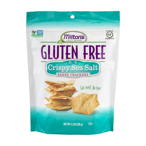 Milton's Craft Bakers Gluten Free Baked Crackers Crispy Sea Salt