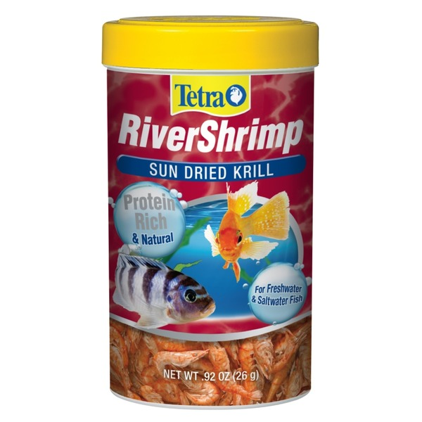 Tetra River Shrimp Sun Dried Krill Protein Rich & Natural For Freshwater & Saltwater