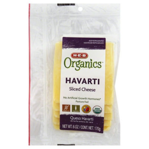 H-E-B Havarti Sliced Cheese